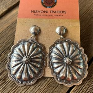 Jewelry - Navajo Sterling Hand Stamped Dangle Earrings